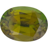 Oval Genuine Olive Tourmaline