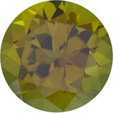 Round Genuine Olive Tourmaline
