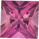 Square Genuine Pink Tourmaline