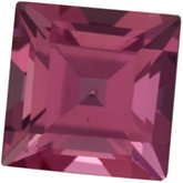 Genuine Tourmaline - Square Step; AA Quality; Pink