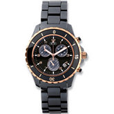 Ceramic Couture™ Men's Rose Gold Immersion Plated Watch