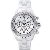 Ceramic Couture™ Watch with CZ's