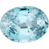 Oval Genuine Blue Zircon