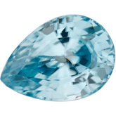 Pear Genuine Blue Zircon