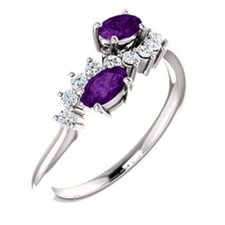 Two-Stone Accented Ring