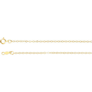 Lasered Titan Gold™ Cable Chain 1.5mm