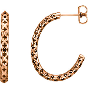 Pierced-Style J-Hoop Earrings