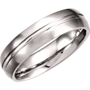 Fancy Carved Band 6mm with Satin Finish