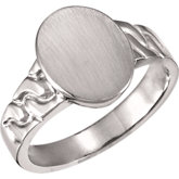Men's Open Back Oval Signet Ring