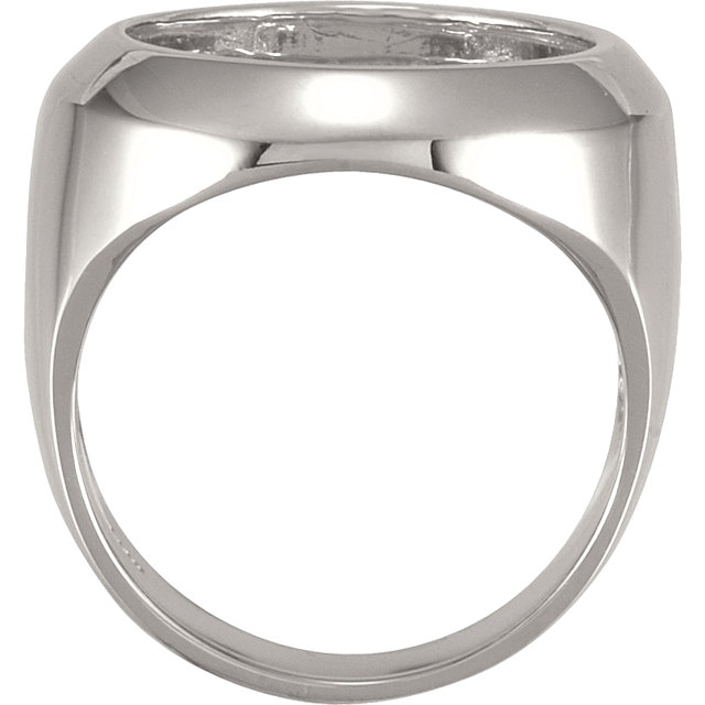 Sterling Silver Men-s 13.9mm Coin Ring Mounting