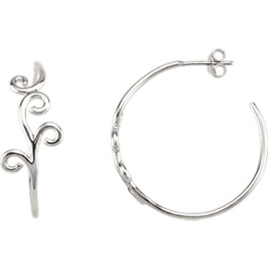 Scroll Design Hoop Earrings