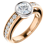 Accented Bezel Engagement Ring