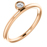 Solitaire Asymmetrical Stackable Ring