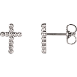 Cross Beaded Design Earrings