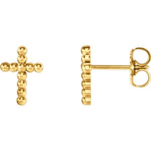 Cross Beaded Design Earrings
