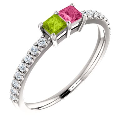 Accented Family Ring