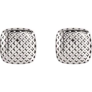 Pierced-Styled Button Earrings