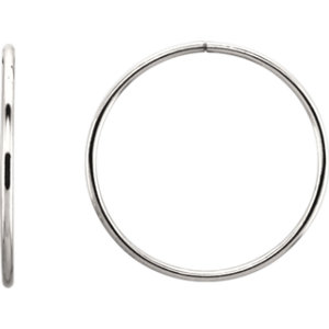 Endless 1.55mm Hoop Tube Earrings