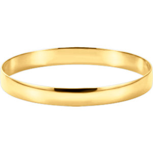14kt Yellow  mm Half Round Bangle Bracelet