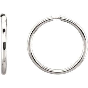 Endless 1.55mm Hoop Tube Earrings