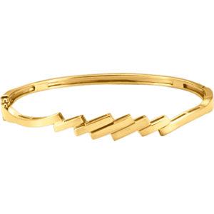 14kt Yellow Hinged Bangle<br> Bracelet