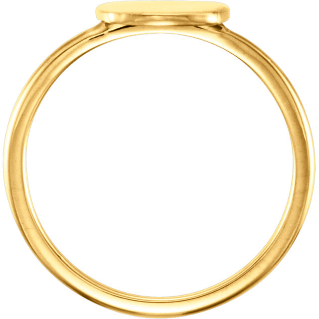 14K Yellow Cushion Engravable Ring