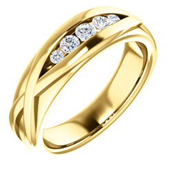 Men's Five-Stone Channel Set Ring