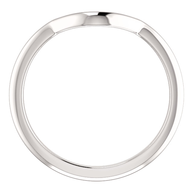 14K White Band for 5.2mm Round Ring