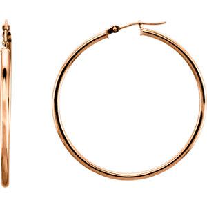 Tube 2mm Hoop Earrings