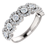 7-Stone Halo-Style Engagement Ring