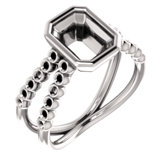 Accented Bezel Ring