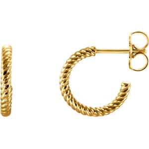 Hoop Earrings with Rope Design