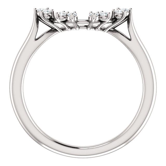 14K White 1/8 CTW Diamond Matching Band