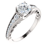 Diamond Semi-mount Engagement Ring, Mounting or Band