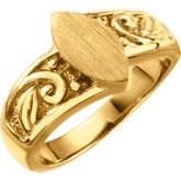 Ladies Open Back Signet Ring