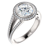 Accented Halo-Style Engagement Ring