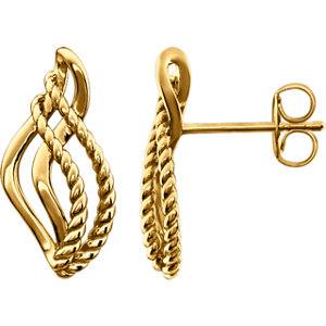 Rope Design Earrings