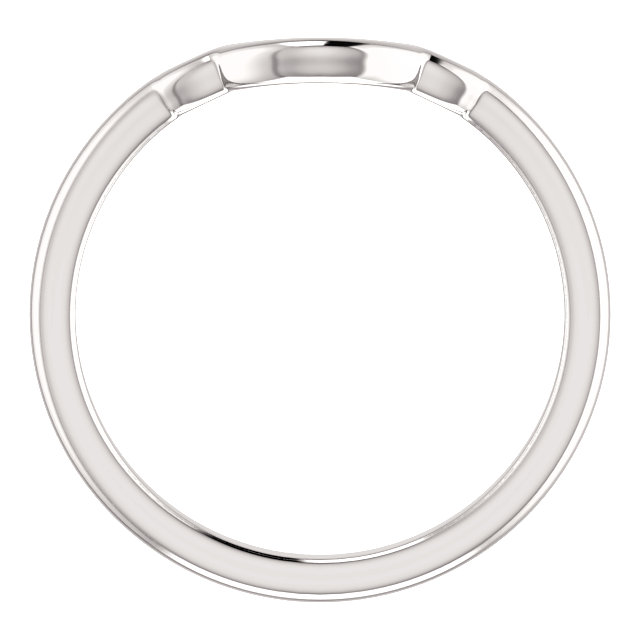 14K White Matching Band for 7x5mm Oval Engagement Ring