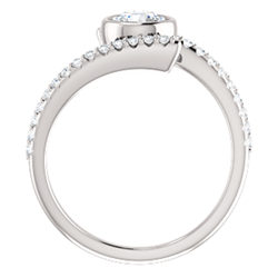 Accented Bezel Set Ring