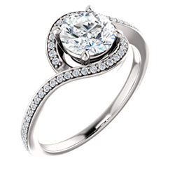 Bypass Halo-Style Engagement Ring