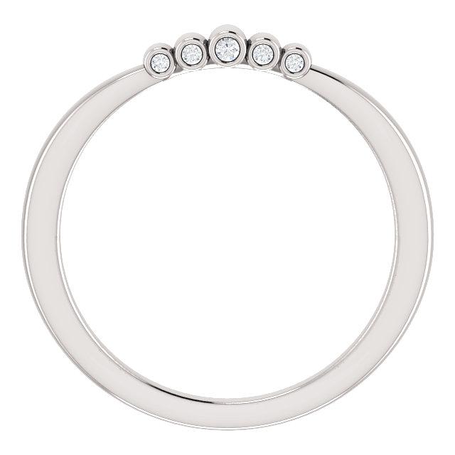 14K White .03 CTW Diamond Band