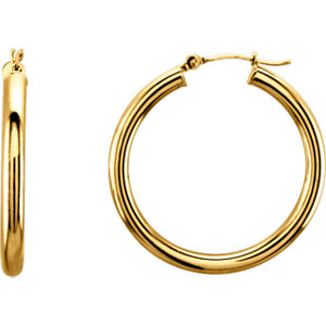 Tube 3mm Hoop Earrings