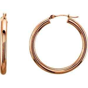 Tube 3mm Hoop Earrings