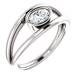 Solitaire Bezel Set Ring