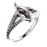 Accented Split Shank Ring