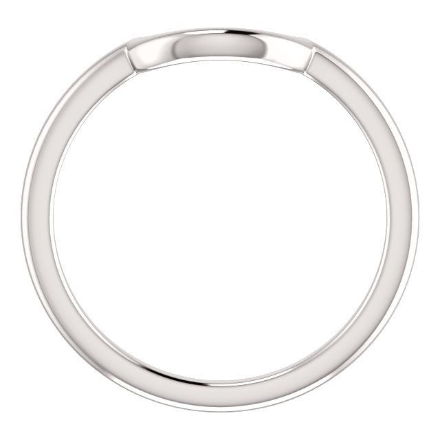 14K White Matching Band for 6.5mm Engagement Ring