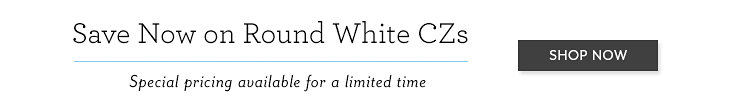 Save Now on Round White CZs