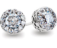 Diamond Fantasy™ Diamond Stud Earrings with Threaded Backs
