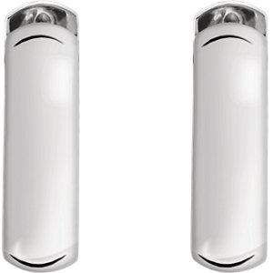 Sterling Silver 16mm Hinged Earrings