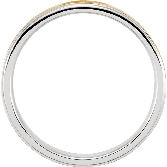 Sterling Silver & 10K Yellow Comfort-Fit Precious Bond® Sterling & Karat Gold Band